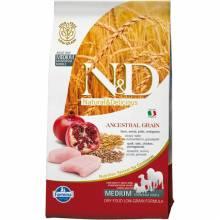 Farmina N&D Low Grain Canine Chicken & Pomegranate Adult низкозерновой сухой корм с курицей и гранатом для взрослых собак всех пород - 2,5 кг (12 кг)