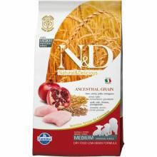 Farmina N&D Low Grain Dog Chicken & Pomegranate Puppy cухой корм  низкозерновой для щенков с курицей и гранатом - 2,5 кг (12 кг)