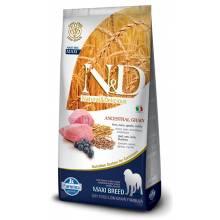 Farmina N&D Low Grain Dog Lamb & Blueberry Adult Maxi сухой корм с мясом ягненка и черникой для взрослых собак крупных пород - 12 кг