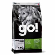 GO! Sensitivity + Shine сухой беззерновой корм для щенков и собак с чувствительным пищеварением с индейкой 2,72 кг (11,35 кг)