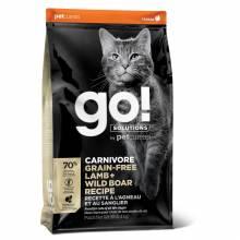 GO! Carnivore GF Lamb + Wild Boar сухой беззерновой корм для котят и кошек с ягненком и мясом дикого кабана 1,36 кг (3,63 кг), (7,26 кг)