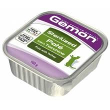 Gemon Cat Sterilised Гемон кэт стерилайз для кошек паштет с индейкой 32 шт х 100 гр