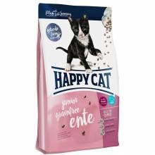 Happy Cat Supreme Junior Grainfree Ente сухой беззерновой корм для молодых кошек с уткой 1,4 кг (4 кг)