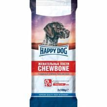 Лакомство Happy Dog Кости жевательные для взрослых собак всех пород - 200 г