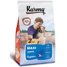 Karmy Maxi Junior сухой корм для щенков крупных пород с индейкой в возрасте до 1 года 2 кг (15 кг)