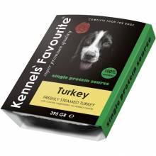 Влажный корм Kennels` Favourite 100% Turkey для собак с индейкой - 395 гр х 10 шт