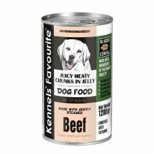Влажный корм Kennels` Favourite Canned Food Beef для взрослых собак всех пород с кусочками говядины в желе - 1,2 кг х 6 шт