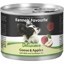 Влажный корм Kennels` Favourite Goose & Apples для взрослых собак всех пород с гусем и яблоком - 200 гр х 6 шт