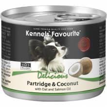 Влажный корм Kennels` Favourite Partridge & Coconut для взрослых собак всех пород с куропаткой и кокосом - 200 гр х 6 шт