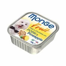 Влажный корм Monge Dog Fruit для взрослых собак со свининой и ананасом в ламистерах - 100 г х 32 шт