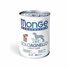 Monge Dog Monoproteico Solo консервы для собак паштет из ягненка - 400 г х 24 шт