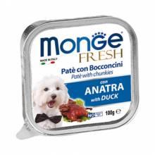 Monge Dog Fresh консервы для собак утка 100 гр х 32 шт.