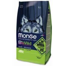 Monge BWild Dog Adult Wild Boar сухой корм для взрослых собак всех пород с мясом дикого кабана - 2 кг (7,5 кг)