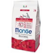 Monge Dog Mini Puppy & Junior rich in chicken сухой корм для щенков мелких пород с курицей и рисом 3 кг