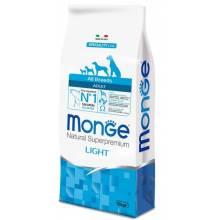 Monge Dog Speciality Light сухой корм для собак всех пород низкокалорийный лосось с рисом 2,5 кг (12 кг)