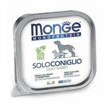 Monge Dog Monoproteico Solo паштет для собак из кролика 150 гр х 24 шт.