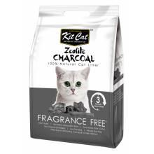 Kit Cat Zeolite Charcoal Frangrance Free цеолитовый комкующийся наполнитель - 4 кг