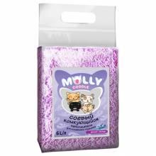 Наполнитель Molly Coddle соевый комкующийся с ароматом лаванды - 6 л