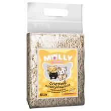 Наполнитель Molly Coddle соевый комкующийся с ароматом ванили - 6 л