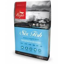 Orijen Six Fish - беззерновой гиппоаллергенный корм для взрослых собак всех пород с рыбой 2 кг (6 кг) (11,4 кг)