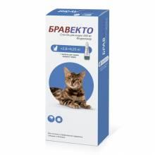 Intervet Бравекто капли от блох и клещей для кошек массой от 2,8 до 6,25 кг