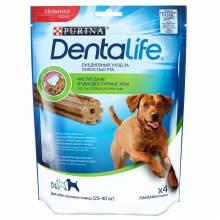 Лакомство Purina DentaLife для собак крупных пород для поддержания здоровья полости рта - 142 г