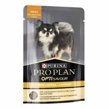 Влажный корм Purina Pro Plan Small & Mini для взрослых собак миниатюрных и мелких пород c курицей в соусе в паучах - 100 г х 24 шт