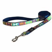 Поводок для собак ROGZ Fancy Dress L-20мм 1,4 м (Многоцветный Поп-Арт)