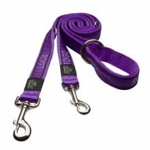 Поводок перестежка для собак ROGZ Fancy Dress M-16мм 1,8 м (Фиолетовый)