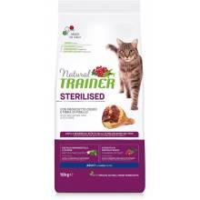 Сухой корм Trainer Natural Sterilised для взрослых стерилизованных кошек с сыровяленой ветчиной - 1,5 кг (10 кг)