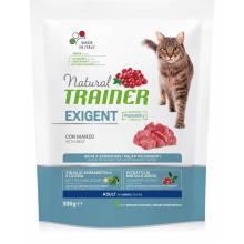 Сухой корм Trainer Natural Exigent для взрослых привередливых кошек с говядиной - 300 г (1, 5 кг)
