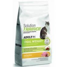 Сухой корм супер премиум класса Trainer Solution Ideal Weight With Turkey для кошек с избыточным весом с индейкой - 300 г (1,5 кг)