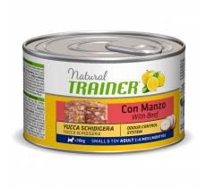 Консервы Trainer Natural Small and Toy для взрослых собак мелких и миниатюрных пород с говядиной и рисом - 150 г х 24 шт