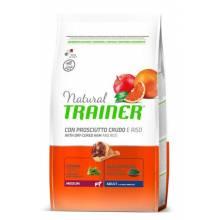 Сухой корм Trainer Natural Medium Adult для взрослых собак средних пород с сыровяленой ветчиной и рисом - 3 кг (12 кг)