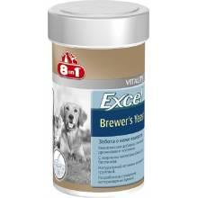 8 in 1 Excel Brewers Yeast, Живые пивные дрожжи с чесноком для кошек и собак 780 таб.
