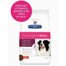 Hills Prescription Diet Gastrointestinal Biome сухой диетический корм для собак с чувствительным пищеварением c курицей 1,5 кг (10 кг)