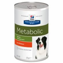 Hill's Prescription Diet Metabolic консервы для собак диета способствует снижению и контролю веса, с курицей 370 гр х 12 шт.