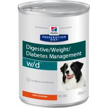 Hill's Prescription Diet w/d Digestive/Weight Management консервы для собак для поддержания веса при сахарном диабете с курицей 370 гр х 6 шт.