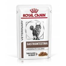 Royal Canin Gastrointestinal Moderate Calorie влажный диетический корм для взрослых кошек при панкреатите и нарушении пищеварения в пауча - 85 гр х 12 шт.