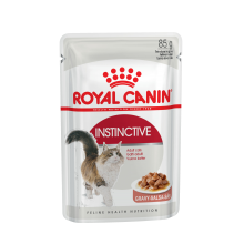 Royal Canin WET Instinctive влажный корм для кошек старше 1 года (в соусе) - 85 гр х 24 шт