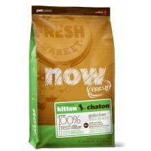 NOW! Fresh Grain Free Kitten Recipe холистик корм из свежего филе индейки, лосося и утки для котят с 5 недели, беременных и кормящих кошек 1,82 кг (3,63 кг) (7,26 кг)