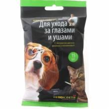 Teddy Pets 48216 влажные салфетки для ухода за глазами и ушами