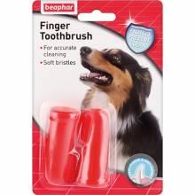 Зубная щетка Beaphar Toothbrush для собак всех размеров на палец двойная