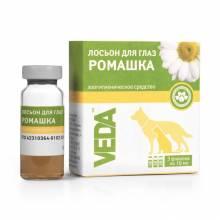 """Veda лосьон для глаз зоогигиеническое средство для собак и кошек """"Ромашка"""", 3 шт х 10 мл"""