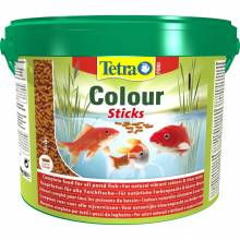 Корм Tetra Pond Color Sticks для прудовых рыб палочки для окраски - 10 л