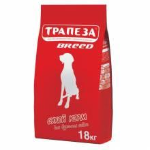Трапеза Breed сухой корм для взрослых собак средних пород с говядиной - 18 кг