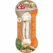 8 в 1 Делайт L косточка с курицей для крупных собак 1 шт.