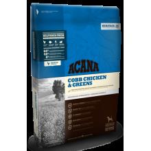 Acana Heritage Cobb Chicken & Greens для собак всех пород с курицей и зеленью 6 кг (17 кг)