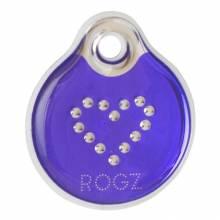 Адресник на ошейник для собак ROGZ Fancy Dress Фиолетовый L - 34 мм