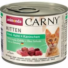 Animonda Консервы Carny Kitten с говядиной курицей и кроликом для котят - 200 г х 6 шт